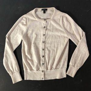 J Crew cream cardigan Buttoned sweater M